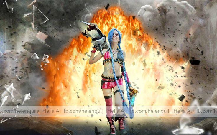 Jinx - cosplay; FaceBook page : http://tiny.pl/gmn5p  Instagram -> @hella_a_oficiall #cosplay #lol #leagueoflegeneds #league #legends #ligalegned #liga #legend #jinx #crazy #fishbones #zapper #zap #bluehair