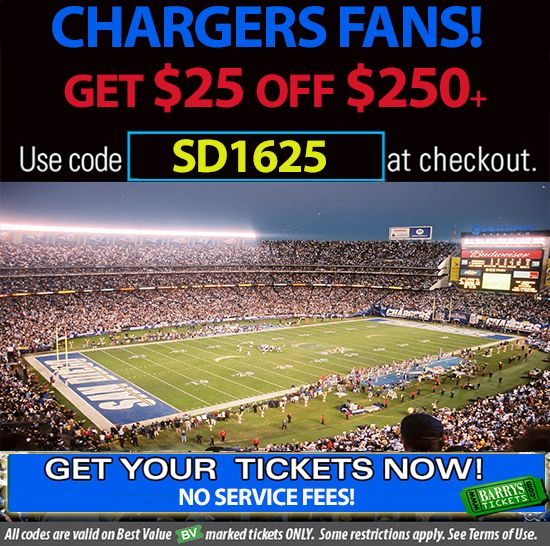 Chargers tickets promo code https://www.barrystickets.com/blog/chargers-tickets-promo-code/ #chargers #sandiegochargers #sdchargers