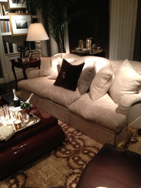 Ralph Lauren home. Love the big deep couch.