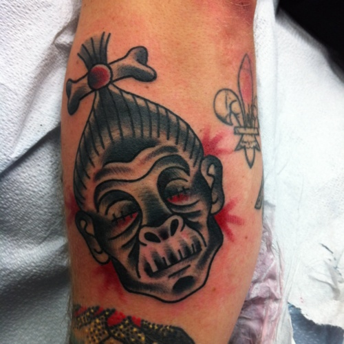 Shrunken Head! Add this to my list of #Tattoos I want.