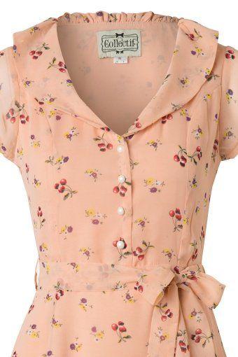 Collectif Clothing Violet Blush Pink Floral Dress 13309 20140612 0010V