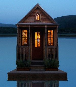 Tumbleweed tiny house...on a floating dock? Awesome!