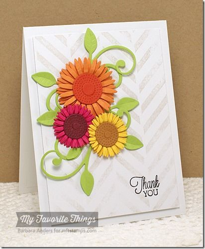 Gogreen 2014apr15 Gerbera DaisiesSunflowersCards To MakeEasy CardsBar Card StyleCraft IdeasDaisyCreative Cards
