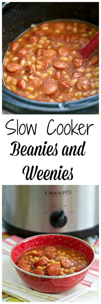 Slow Cooker Beanie and Weenies- fun recipe for camping!