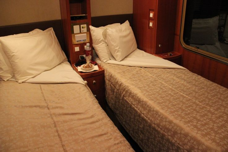 Platinum Cabin Night Time The Ghan Train http://www.tipsfortravellers.com/ghan-train-australia-video-tour-iconic-railway-journey/ #australia #theghan #trains