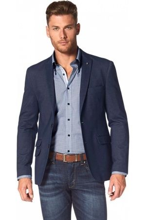 Bruno Banani Jersey-colbert in denim-look