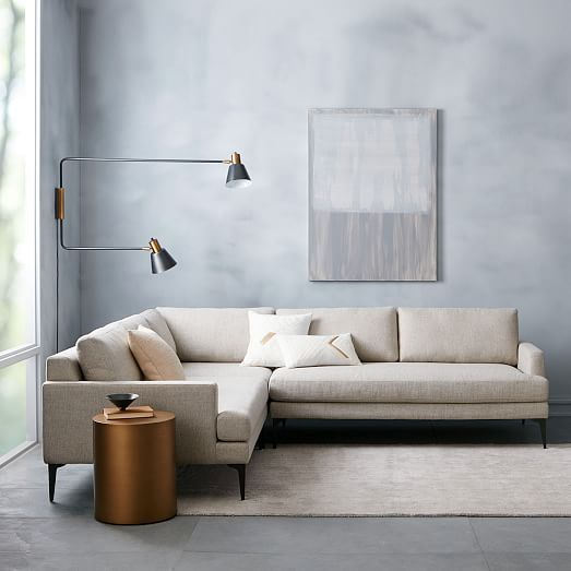 Andes Sectional Pieces | west elm  So comfortable and lounge-y!! On sale left sectional $1099