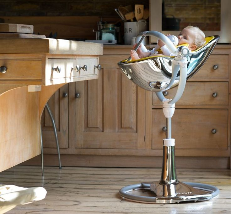 I am obsessed with Lola's Fresco Bloom Chrome High Chair!!!!  Greatest Highchair ever!!