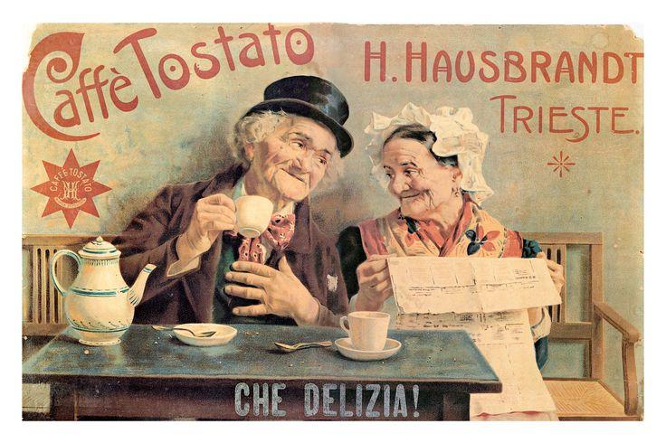 """Immagine storica dei """"vecchietti"""" Hausbrandt, historic advertising on Hausbrandt coffee"""