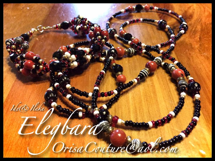 Ide and Ileke Elegua Laroye For inquires please send an e-mail to OrisaCouture@aol.com #ide #ileke #elegua #eleggua #elegbara #elegba #eshu #esu #laroye #orisa #orisha #lukumi #santeria #yoruba #orisacouture