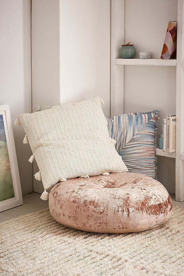 Amaya Velvet Floor Cushion In 2019 F U R N I S H I N G Bean Bag
