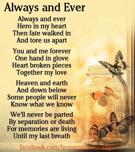Memorial poems - How Far Away Is Heaven - Heavens Garden