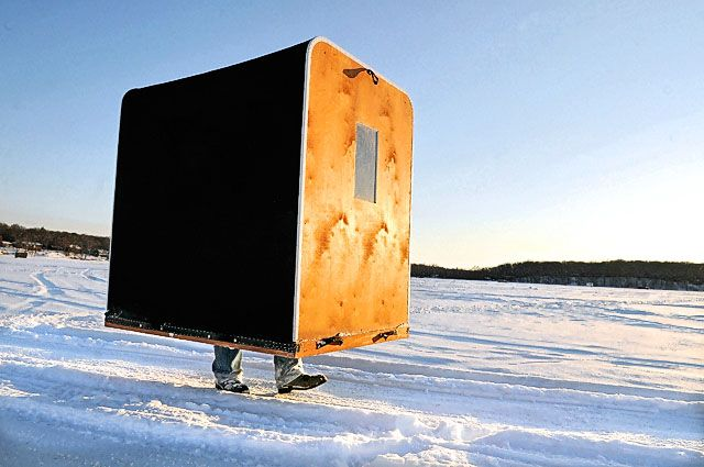 A Beginner's Guide to Ice Fishing #TrophyCase Ice fishing shanty [image: www.blog.syracuse.com]