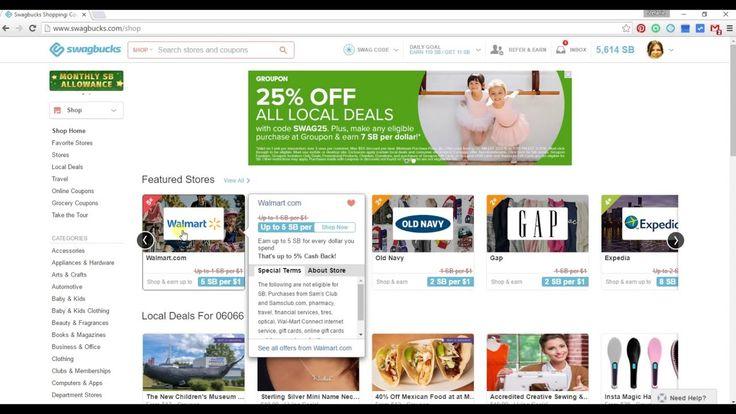 Swagbucks Cash Back - Online Shoppen über SB und bekomme Gift Cards
