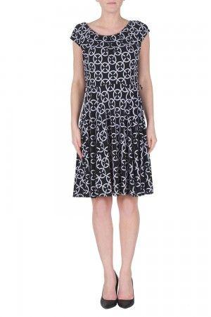 0c0a3ae02b89 Joseph Ribkoff Black White Dress Style 172865