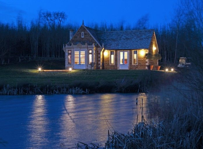 DRAGONWOOD BOAT HOUSE Oakham, Rutland, United Kingdom  A boutique boat house designed with romance in mind, Dragonwood Boat House is a traditional Victorian bolthole with a modern Italian twist. This lakeside abode near Oakham, Rutland offers luxury self-catering breaks in the most magical of settings.