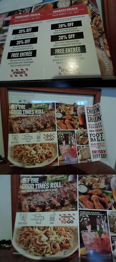 Coupons: Tgi Fridays Restaurant Coupons February And March 2017 Deals BUY IT NOW ONLY: $4.95