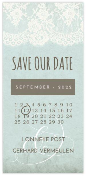 TRENDY SAVE THE DATE MET VINTAGE DETAILS