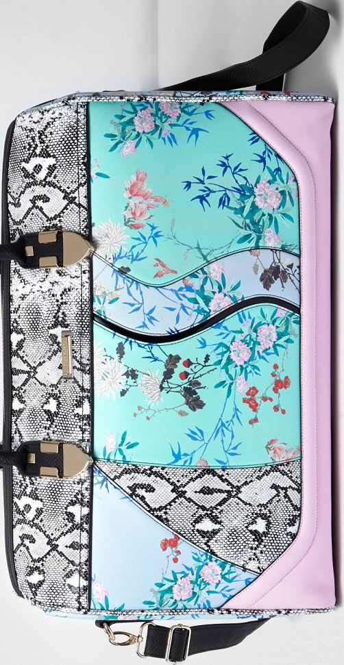 •Website: http://www.cuteandstylishbags.com/portfolio/river-island-blue-floral-snake-print-weekend-bag/ •Bag: River Island Blue Floral and Snake Print Weekend Bag