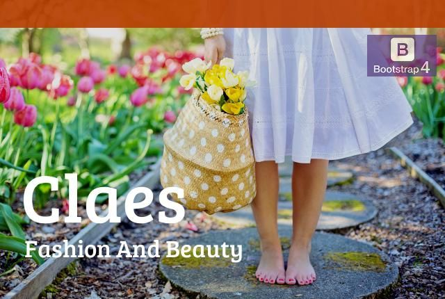 Claes Fashion And Beauty Bootstrap 4 Theme