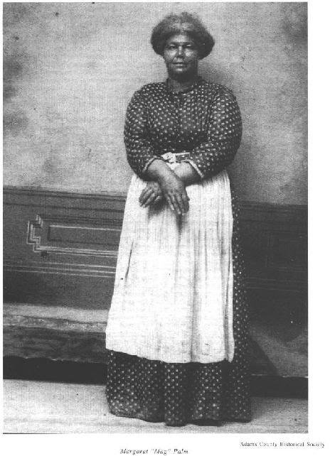 """Margaret """"Mag"""" Palm  A conductor on the Underground Railroad  Margaret Palm was a colorful character in Gettysburg's African-American community during the mid-nineteenth century. Before the Civil War she served as a conductor along the local branch of the Underground Railroad, earning the nickname Maggie Bluecoat for the blue circa-1812 military uniform coat she wore while conducting fugitive slaves north from the area."""