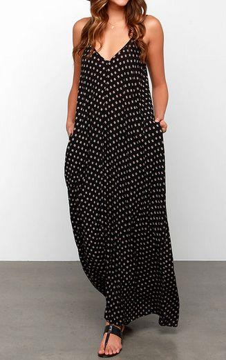 Yours Tule Black Floral Print Maxi Dress