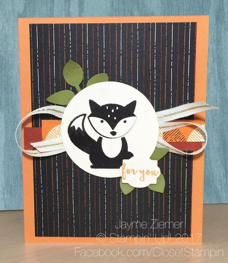 Foxy Friends by Stampin' Up was inspired by a card at OnStage 2017! www.closetstampin.com