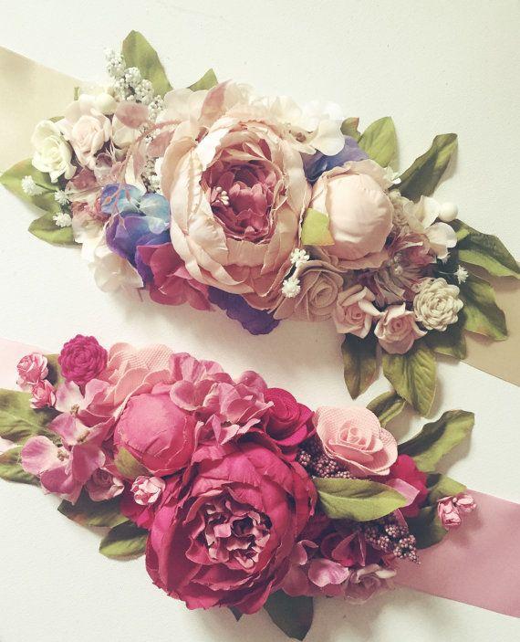 Marco del satén floral / bodas marco / maternidad por nashandwillow