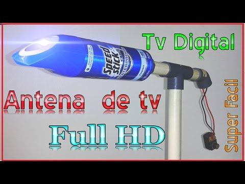 ✔ antena hd casera ultra potente con lata de pepsi - YouTube