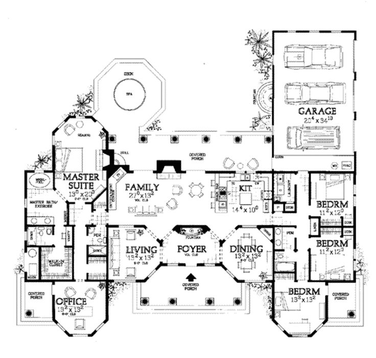 17 images about floor plans and houses on pinterest 3 for Attached garage plans with bonus room