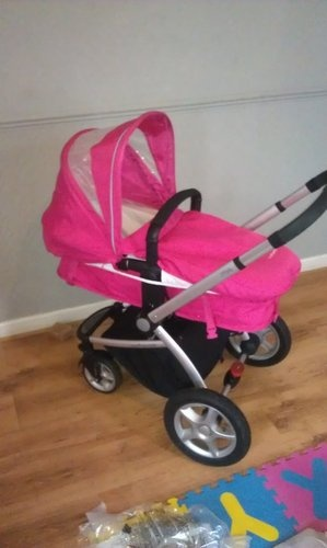 my4 mothercare pram in pink