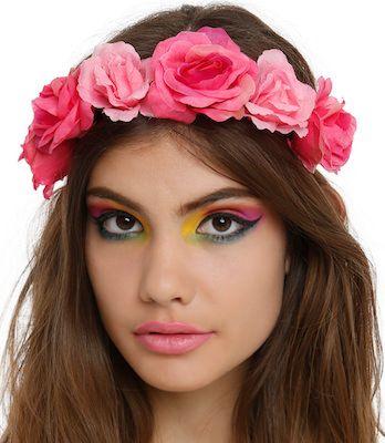 Pink Roses Headband