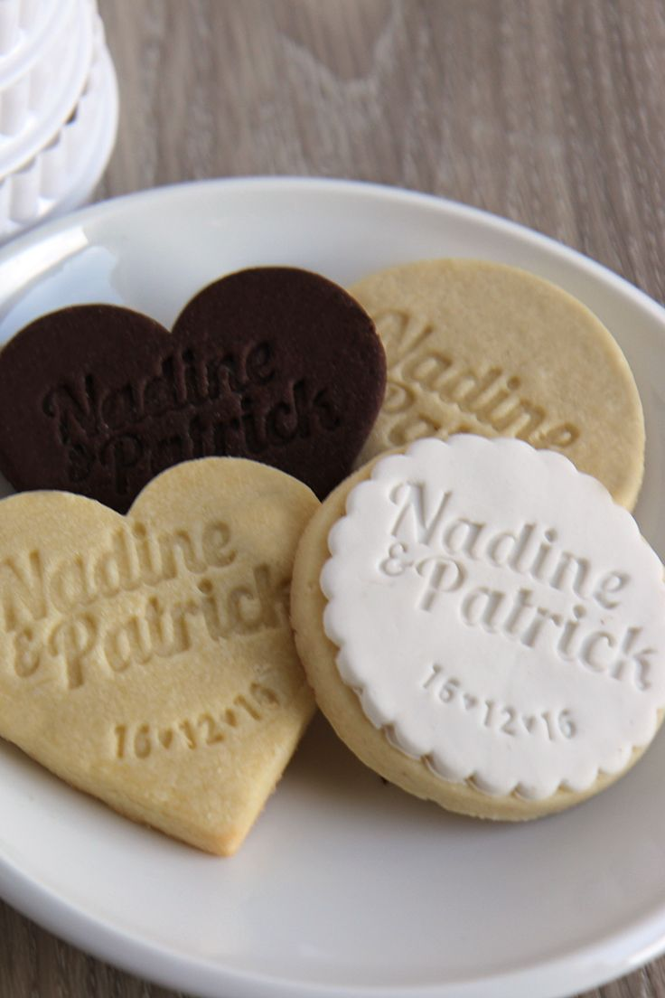 Personalised Cookie Stamps - Wedding bonbonniere / wedding favours. www.thecookiestamp.co                                                                                                                                                                                 More