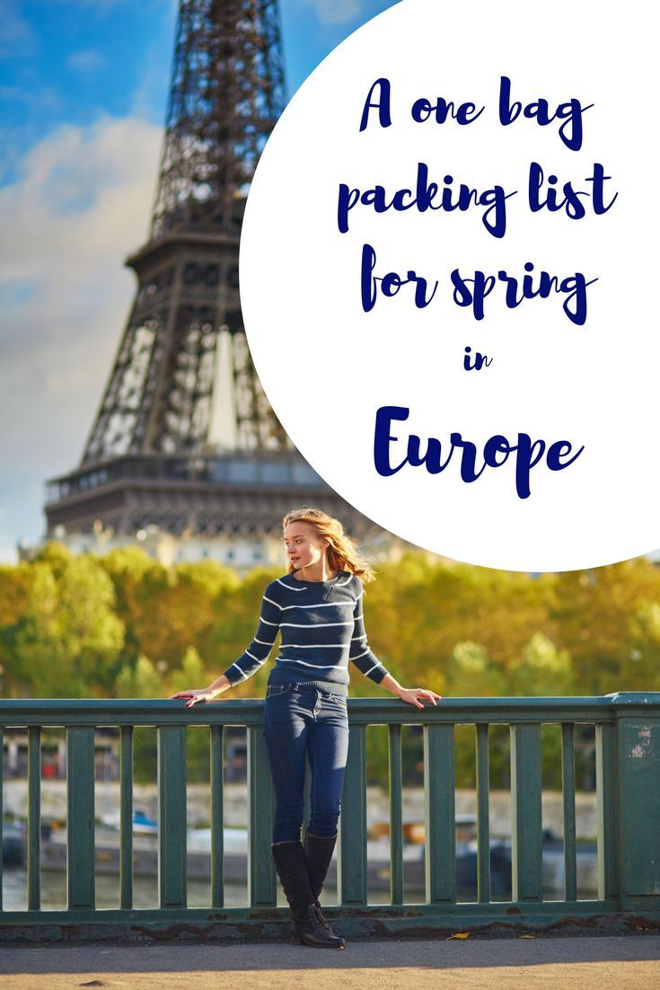 Spring means pretty feminine colours to wear, so make sure you banish the black and make your one bag packing list for spring in Europe pretty and colourful. Packing tips | Travel planning | Spring in Europe