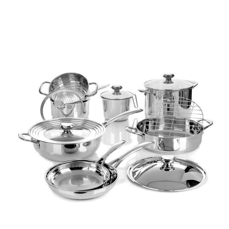 Refurbished Wolfgang Puck Bistro Elite 14-piece Stainless Cookware Set