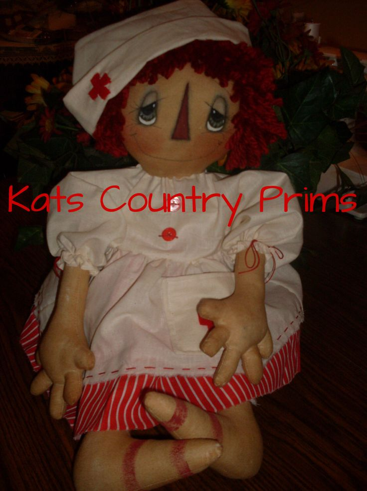 Primitive Nurse Annie Nightingale INSTANT DOWNLOAD PATTERN #156 Hafair Faap by KatsCountryPrims on Etsy https://www.etsy.com/listing/184216733/primitive-nurse-annie-nightingale