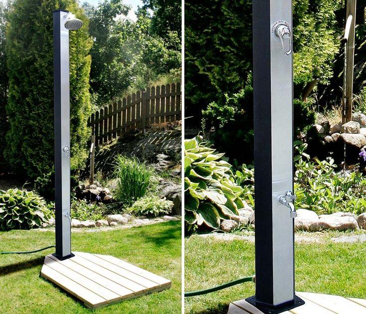 Exklusiv utomhusdusch med varmvatten. Perfekt i trädgården under sommaren!  http://www.northernliving.se/p/duschar/utomhusduschar/demerx-utomhusduschar/utomhusdusch-demerx-30.html  $520