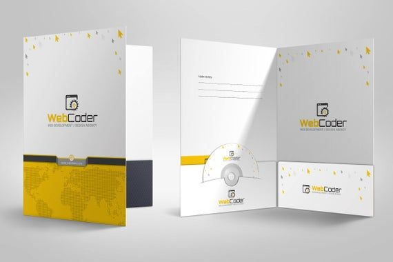 Presentation Folder Design Template For Web Design Etsy Di 2021