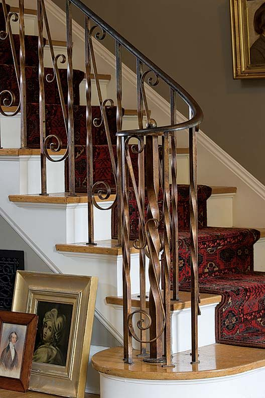 Choosing Paint Colors For A Colonial Revival Home House Beautiful Pinterest Wrought Iron Railings And