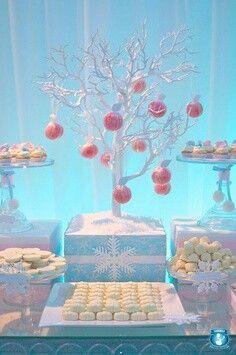 Winter Wonderland Party - silver tree