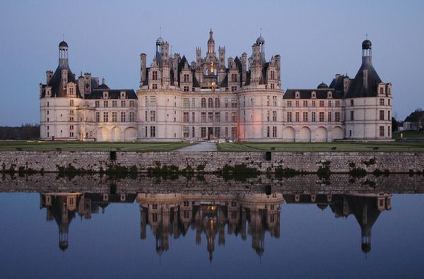 Chambord Castle.  loire valley france