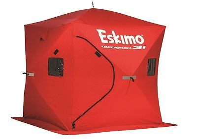 Eskimo QuickFish 3 Man Ice Shelter Fishing Winter Shelter Portable Tent Outdoor