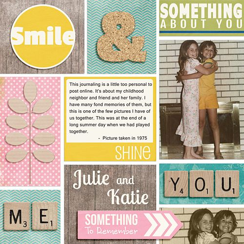 Layout by Katie. Supplies: Somethingness by Jennifer Labre Designs; Slices of Life (template) by Scrapbook Lady; Fonts: Microsoft Sans Serif and Lobster Two.
