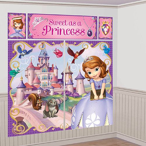 Sofia the First Scene Setter Wall Decorating Kit | 1 ct