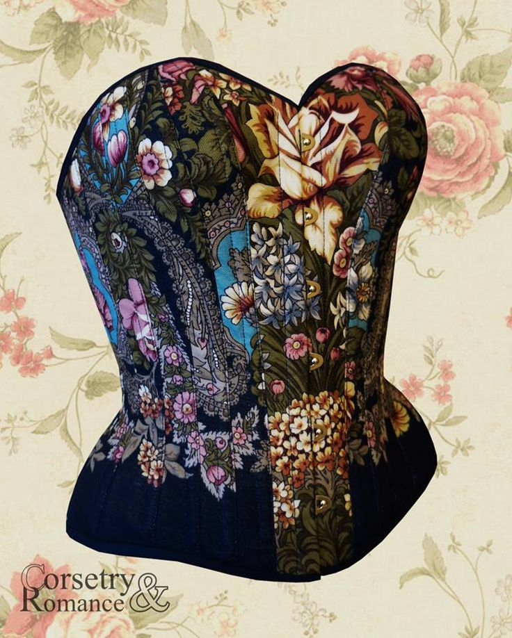 Corsetry and Romance corset made with a babushka shawl. Two of my favorite things <3