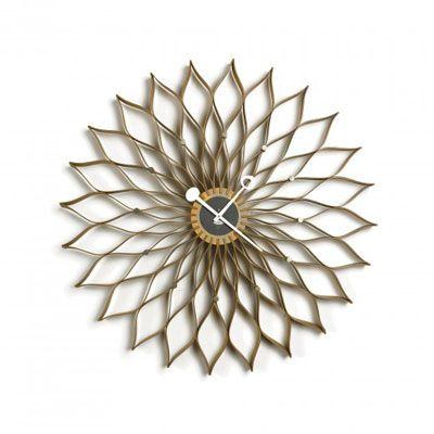 """Sunflower"" Model 2261 Wall Clock, Designed by Irving Harper, Howard Miller Clock Company, 1958"