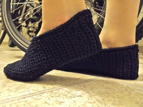 Crochet Slipper Pattern: As cold as our house gets in winter (or just when the A/C kicks on), I definitely need a pair.