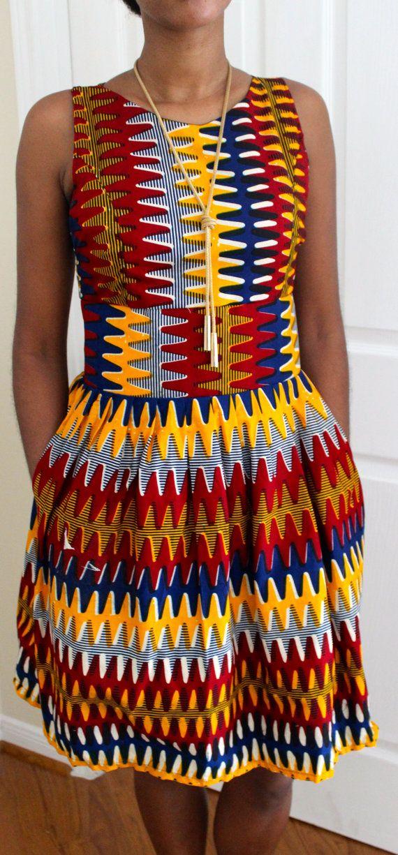 African Print Dress by ifenkili on Etsy, $40.00