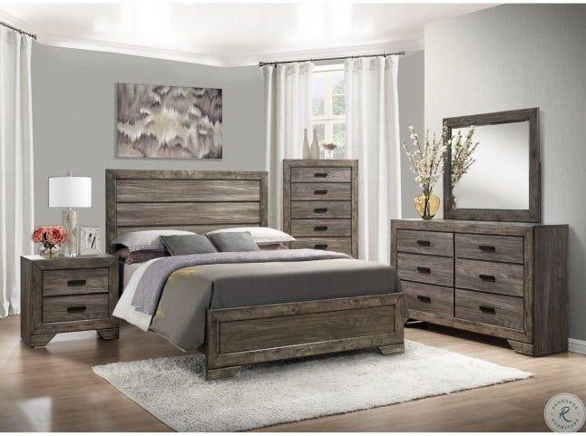 Grayson Grey Oak Panel Bedroom Set In 2021 Grey Bedroom Furniture Wood Bedroom Sets Rustic Grey Bedroom Bedroom set grey wood
