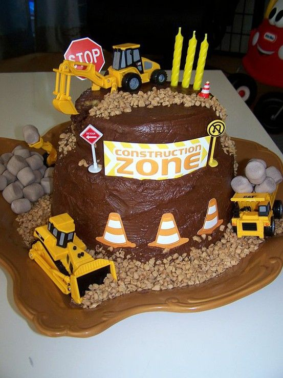 I made this construction cake for my sons 3rd birthday!